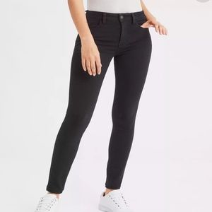 AEO Super Stretch Jegging in black sateen